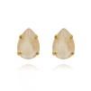 Mini Drop Stud Earrings - Ivory Cream Guld