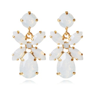 Mini Dione Earrings Alla Färger - White Opal Gold
