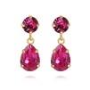 Mini Drop Earrings - Fushia Guld