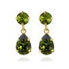 Mini Drop Earrings - Olivine Guld