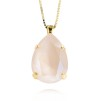 Classic Drop Necklace - Ivory Cream Guld