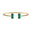 Baguette Bracelet - Emerald Guld
