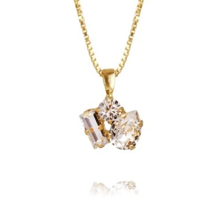 Isa Necklace - Crystal Guld
