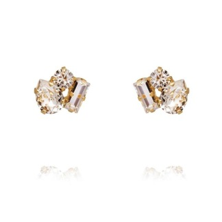 Isa Earrings - Crystal Guld