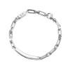 Thin silver bracelet - take no shit