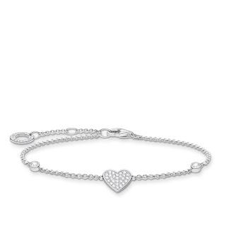 Armband hjärta med stenar silver - Armband hjärta med stenar silver