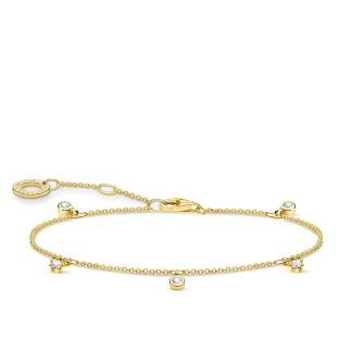 Armband vit stenar - Guld