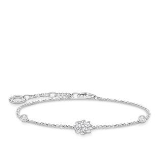 Armband klöverblad med stenar silver - Armband klöverblad med stenar silver