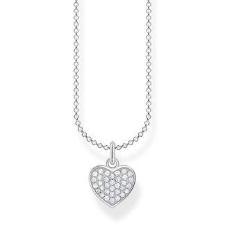 Halsband hjärta pavé silver - Silver