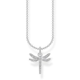 Halsband slända silver - Silver