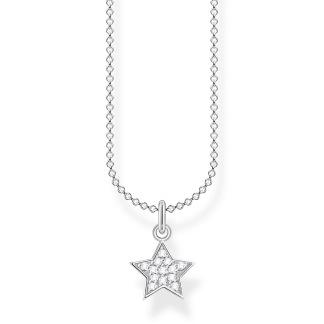 Halsband stjärna pavé silver - Halsband stjärna pavé silver