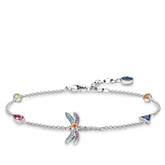 Armband slända - silver