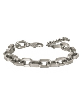 ABBE Wide Armband - Silver