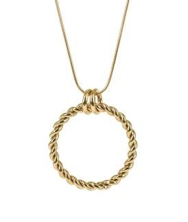TWIST Long Halsband - Guld