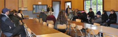 Lördagen började med en föreläsning om viltspår av Lennart