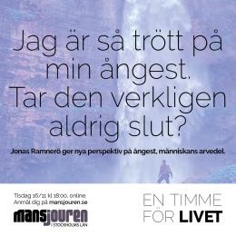 Jag är så trött på min ångest. Tar den verkligen aldrig slut? Jonas Ramnerö ger nya perspektiv på ångest, människans arvedel.