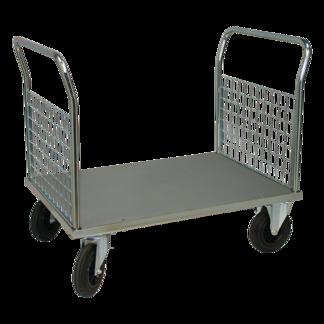 Plattformsvagn 602-ZN med 2 nätgavlar - Plattformsvagn zinkad 602-7-Z-Nät