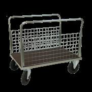 Plattformsvagn 606-ZNP med 2 nät långsidor plywood