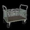 Plattformsvagn 603-ZNP med hög nätsarg plywood - Plattformsvagn zinkad 603-8-z-nät-plywood
