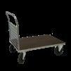 Plattformsvagn 601-ZNP med 1 nätgavel plywood - Plattformsvagn zinkad 601-8-Z-nät-plywood