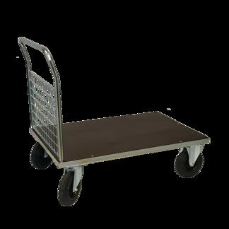 Plattformsvagn 601-ZNP med 1 nätgavel plywood - Plattformsvagn zinkad 601-7-Z-nät-plywood