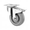19-1 Pallvagn ställbar - 1 st Broms grå elastic Ø 200 mm