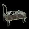 Plattformsvagn 607-ZNP med låg nätsarg plywood - Plattformsvagn zinkad 607-8-z-nät-plywood
