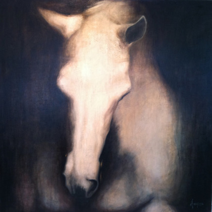 HORSE I 150 x 150 cm COMMISSIONED BY HANNELLS STABLES