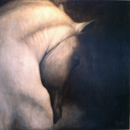 HORSE II 150 x 150 cm COMMISSIONED BY HANNELLS STABLES