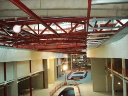 Stålkonstruktioner för ljusinsläpp på Mall of Scandinavia