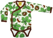 Kimono body med kastanjetryck