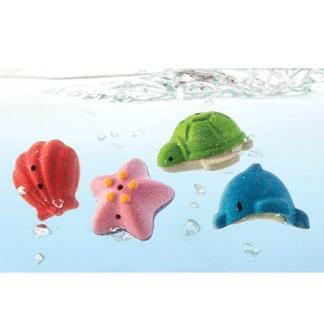 Badleksaker i trä, Sea Life Bath Set, ekologisk -