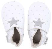Bobux skinntofflor vita med silverstjärnor