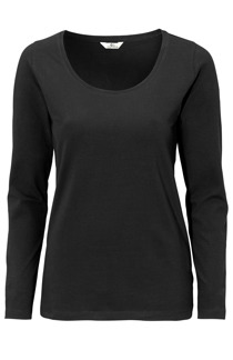 Alice Top Black, ekologisk - S