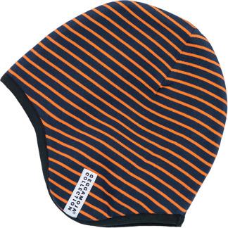 HJälmmössa marinblå/orange - stl 38 0-2 mån