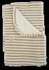 Ekologisk filt av färgväxande randig velour
