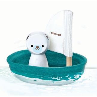 Badleksak Sailing boat Polar bear, ekologisk -