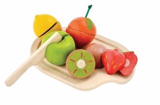 Lekmat i trä, frukter, ekologisk -