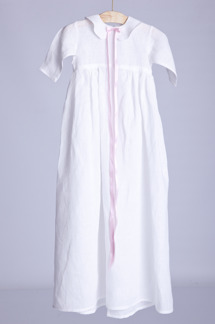 Dopklänning ekologiskt linne - Blekt linne