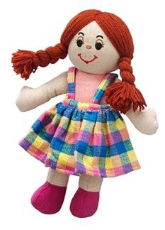 Mjuk docka rött hår, fair trade -