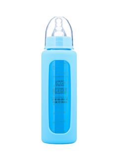 Eco Viking nappflaska i glas, blå 240 ml -