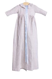 Dopklänning ekologiskt oblektlinne -