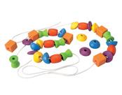 Lacing beads, träpärlor 30 st, eko