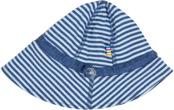 Solhatt, stripe blue, ekologisk