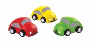 Småbilar av trä, ekologiska -