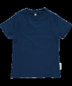 T-shirt blå, ekologisk