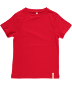T-shirt röd, ekologisk