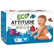 Attitude midi ekologiska blöjor (5-11 kg) 30 st