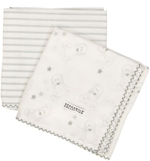 Bamboo blankets White/Grey, set om 2 st -