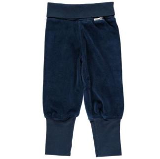 Babybyxa velour mörkblå - Stl 50